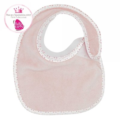 Bavoir bib'up rose